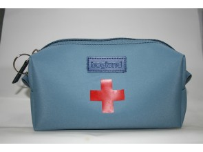 Футляр для аптечки голубой ткань